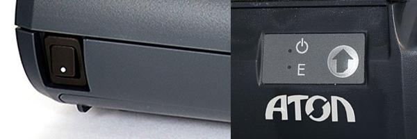 Индикаторы и кнопки на корпусе Атол 30Ф