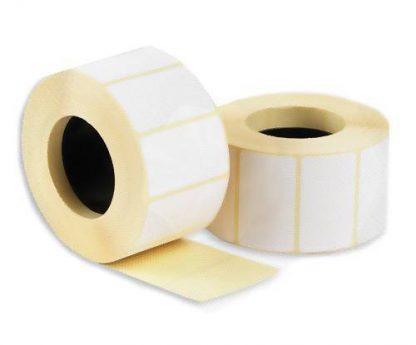 Этикетка для термотрансферной печати 43х25 полипропилен, белая