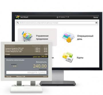 Интерфейс программы Set Retail